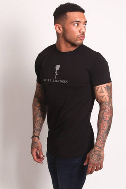 Rose London Tonal Plastisol T-Shirt - Black