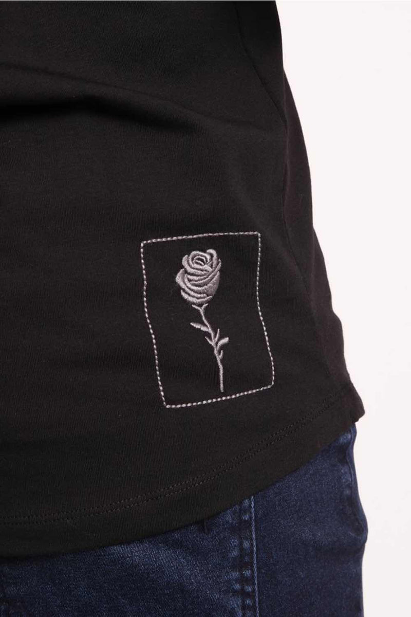 Rose London Tonal Plastisol T-Shirt - Black - 2