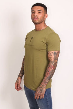 Rose London Tonal Plastisol T-Shirt - Khaki - 3