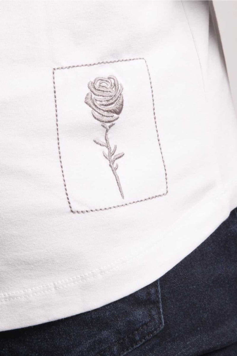 Rose London Tonal Plastisol T-Shirt - White - 2