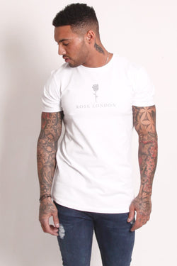 Rose London Tonal Plastisol T-Shirt - White
