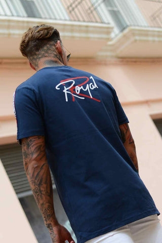 Roya1 Clothing Cyber Tape T-Shirt - Navy - 1