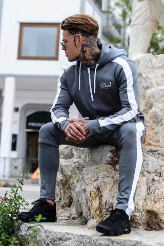 Roya1 Clothing Power Tracksuit Hoodie - Grey - 1