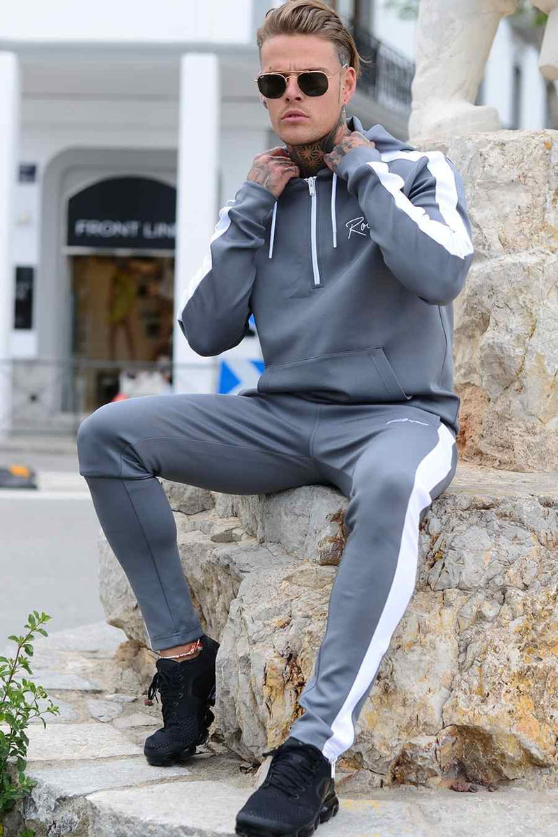 Roya1 Clothing Power Tracksuit Hoodie - Grey - 2