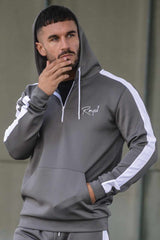 Roya1 Clothing Power Tracksuit Hoodie - Grey - 3