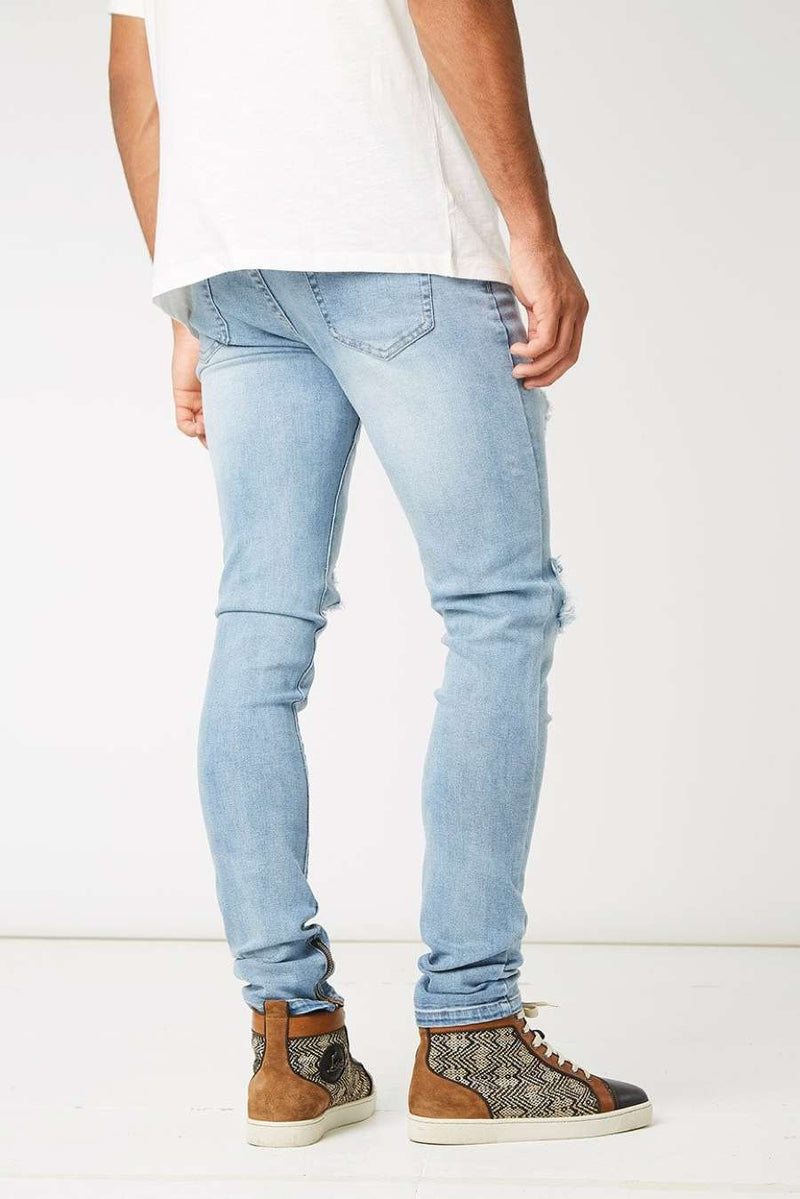 Section Clo Dalli Zipped Distressed Jeans - Light Blue - 3