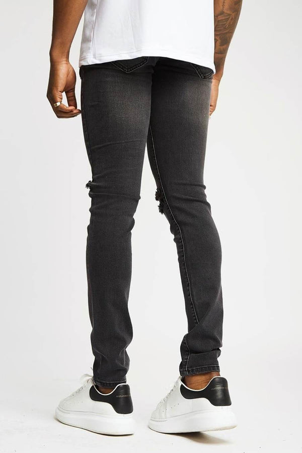 Section Clo Knee Rip Jeans - Grey - 1