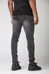 Section Clo Templar Ripped & Repaired Jeans - Grey - 2