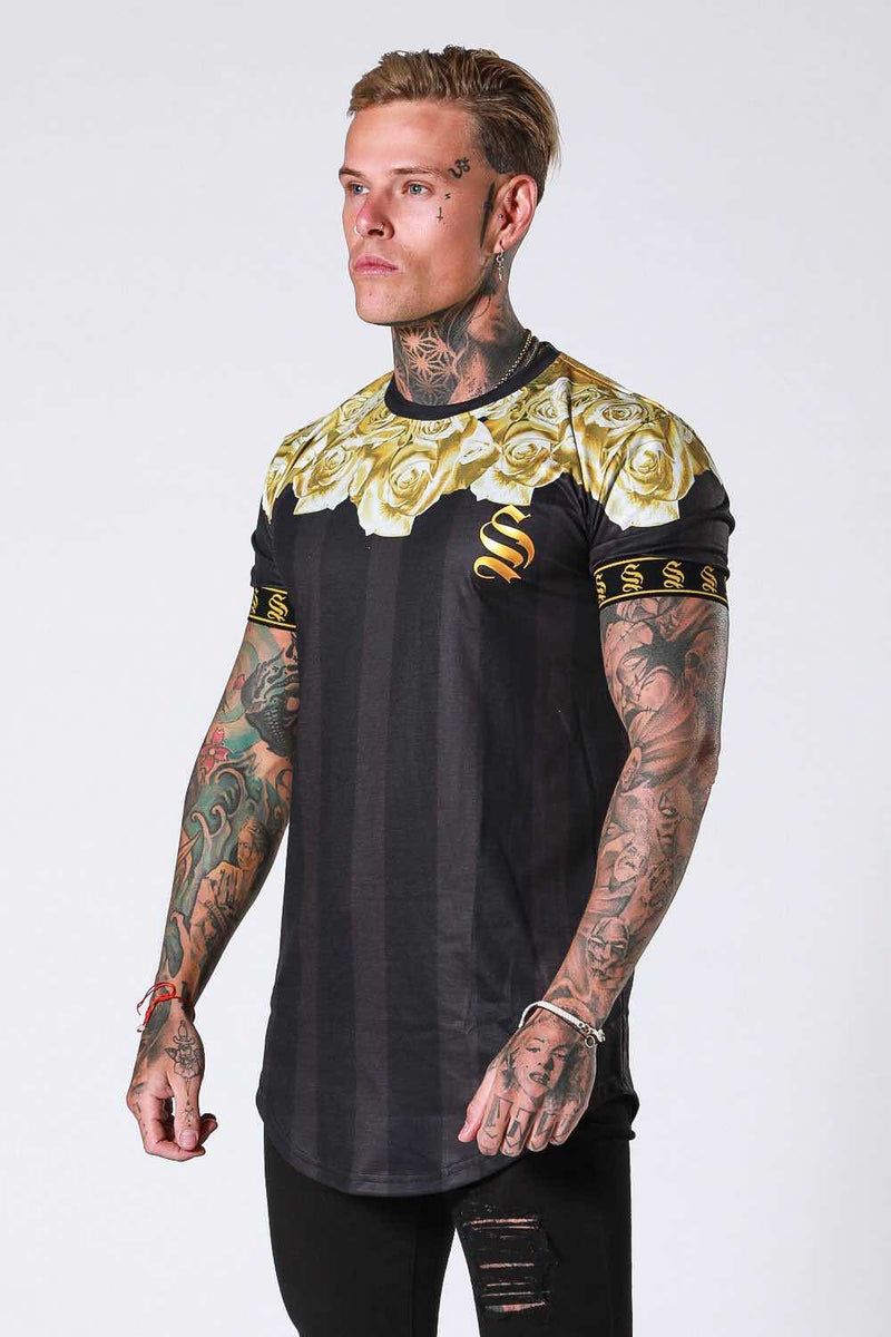 SNRS Rose Garland T-Shirt - Black/Gold - 2