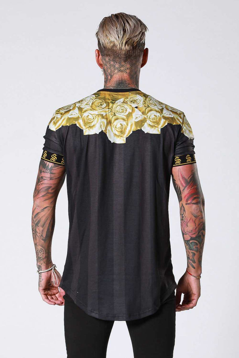 SNRS Rose Garland T-Shirt - Black/Gold - 4