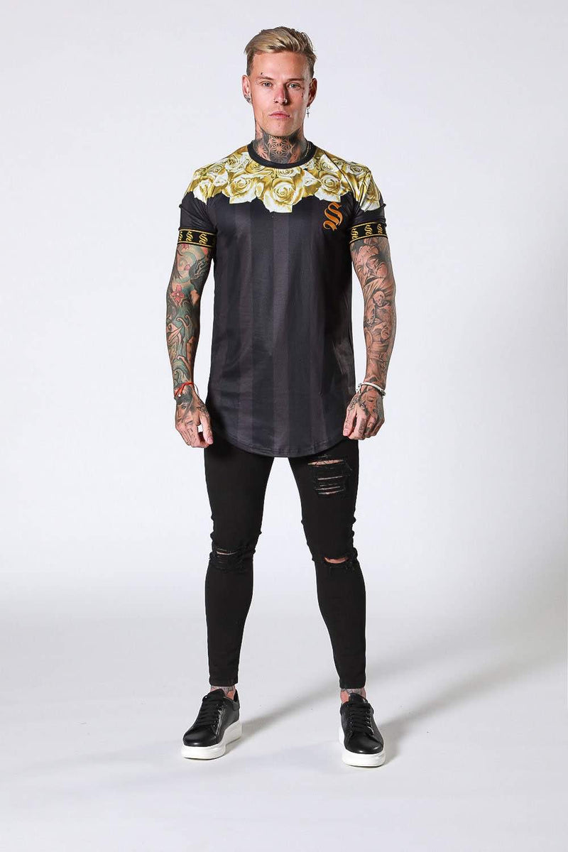SNRS Rose Garland T-Shirt - Black/Gold - 3