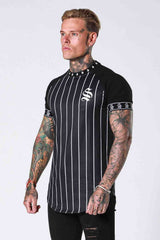 SNRS Pinstripe Tape T-Shirt - Black - 2
