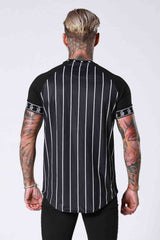 SNRS Pinstripe Tape T-Shirt - Black - 3