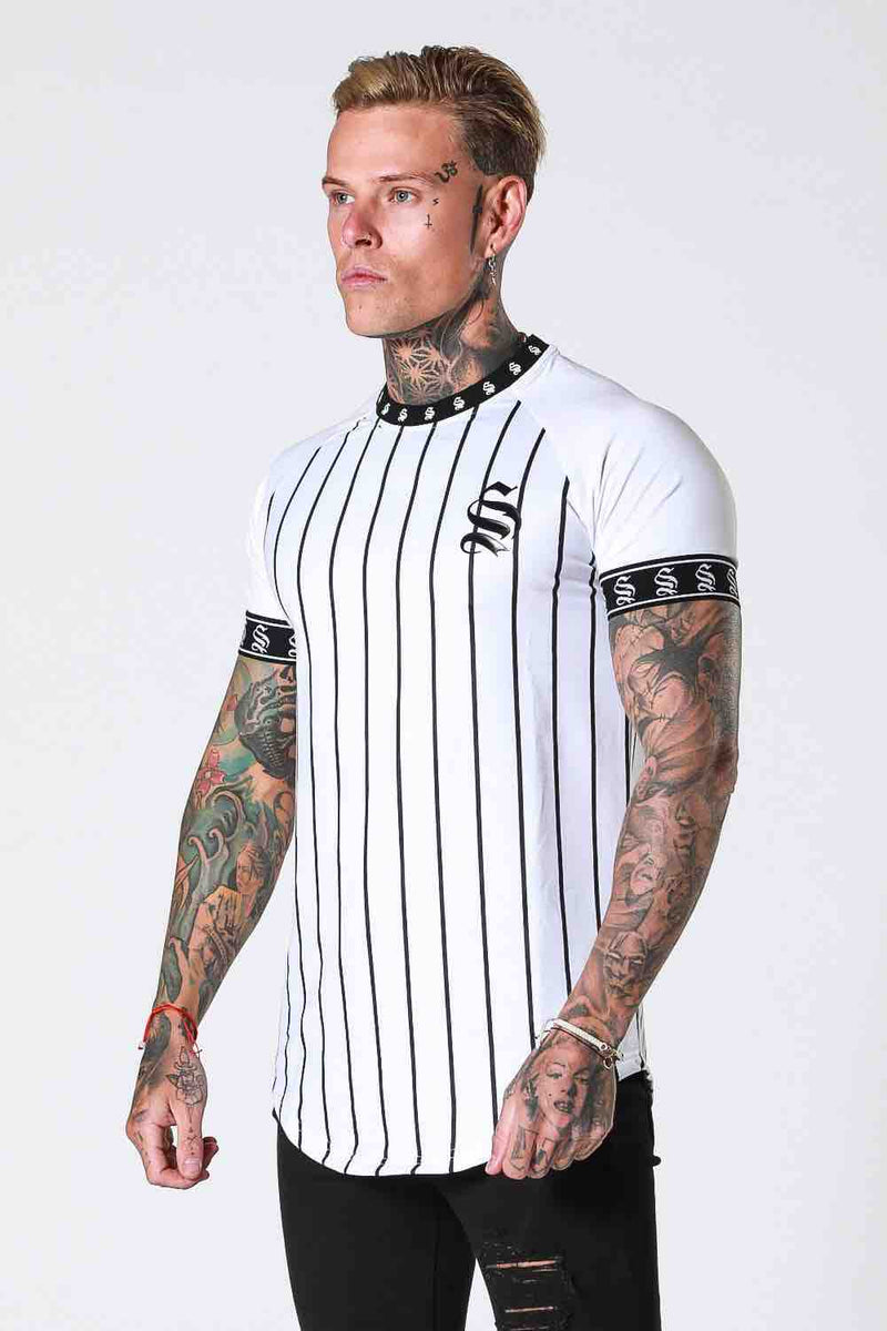 SNRS Pinstripe Tape T-Shirt - White - 2