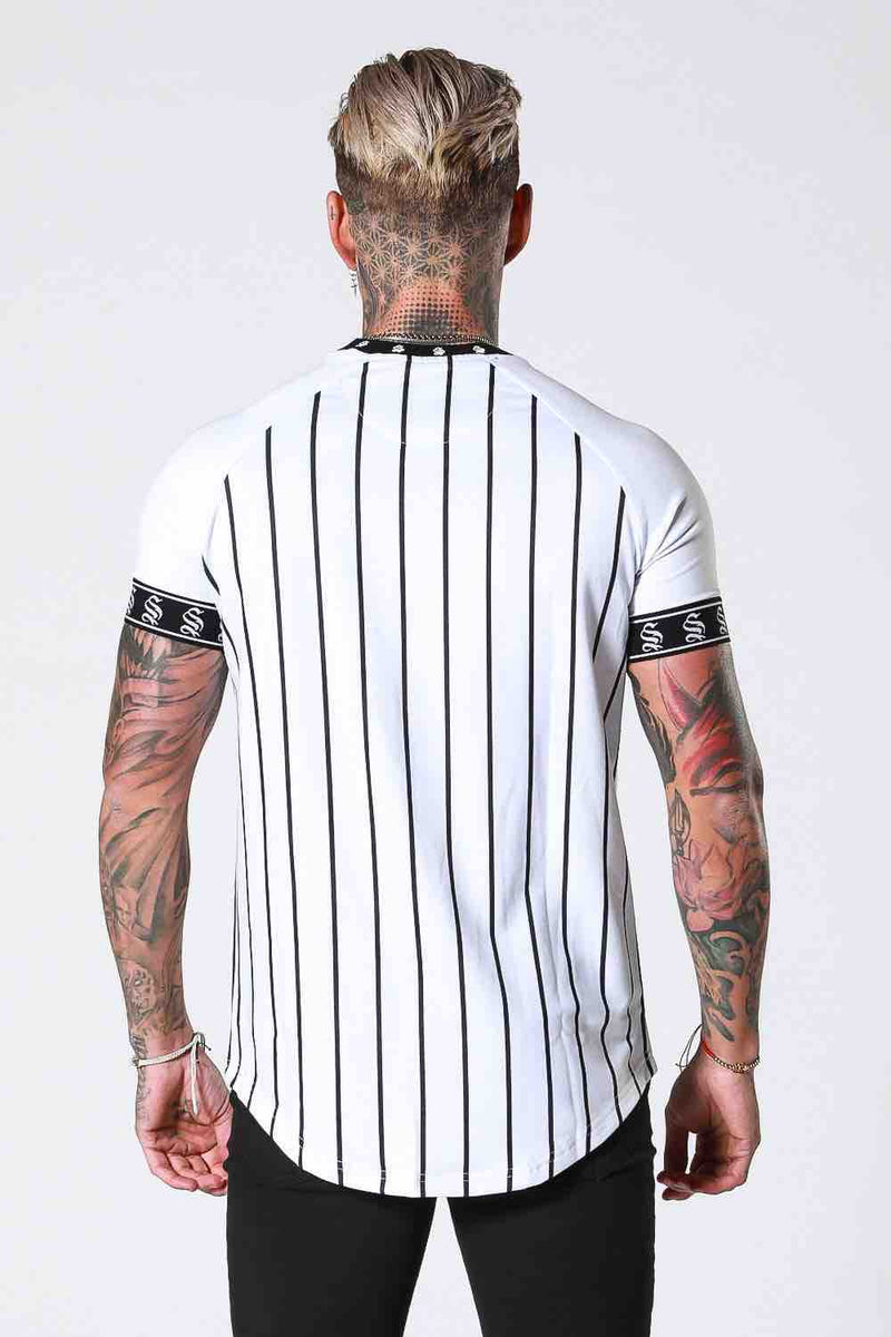SNRS Pinstripe Tape T-Shirt - White - 3