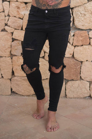 Sinners Attire Destroyed Jeans - Black