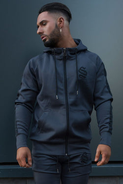 Sinners Attire Poly Tracksuit Hoodie - Charcoal
