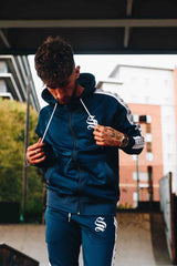 Sinners Attire Poly Tracksuit Tape Hoodie - Navy - 1