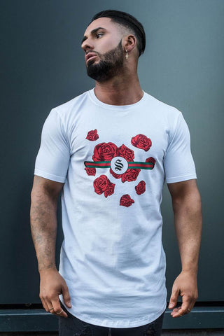 Sinners Attire Rose Band Tee - White