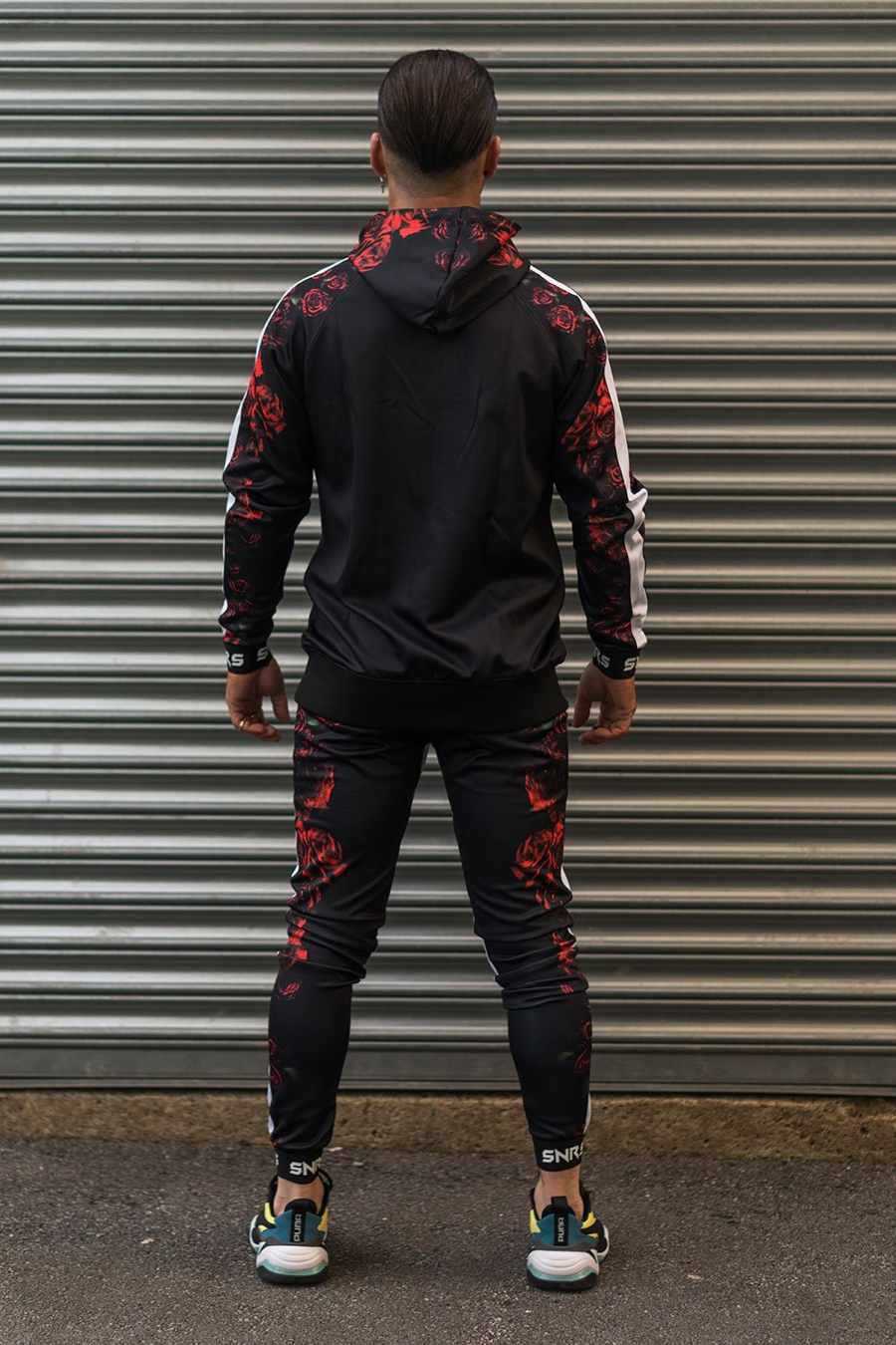 Sinners Attire Rose Poly Tracksuit Hoodie - Black - 3