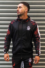 Sinners Attire Rose Poly Tracksuit Hoodie - Black