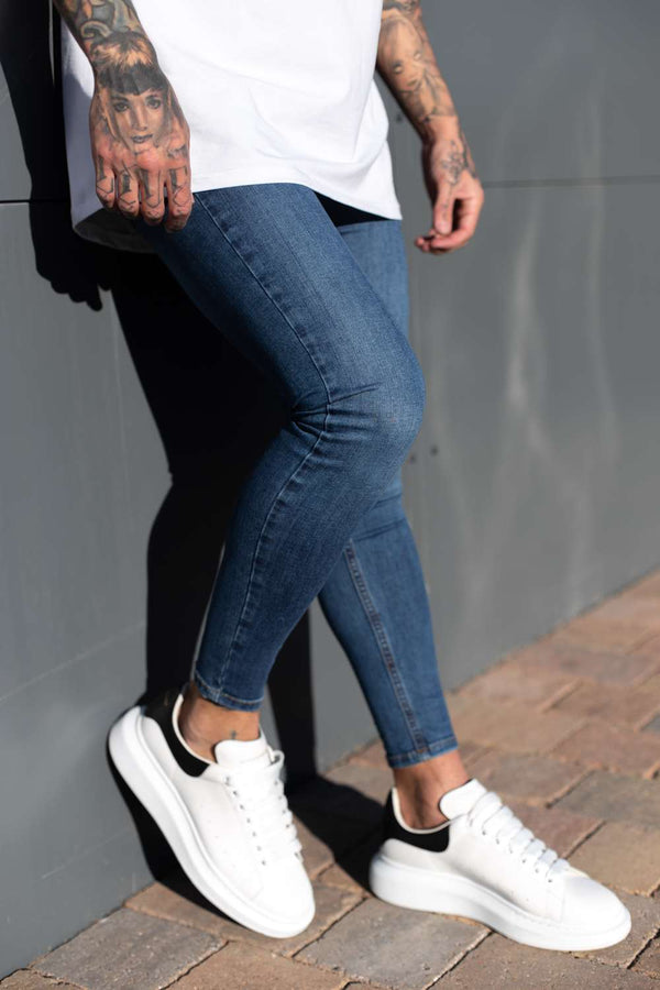 Sinners Attire Spray On Skinny Jeans - Dark Wash