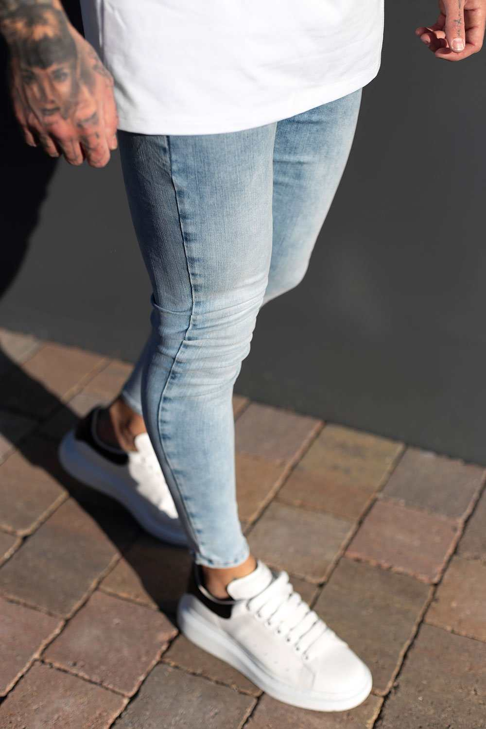 Sinners Attire Super Spray On Jeans - Light Blue - 4