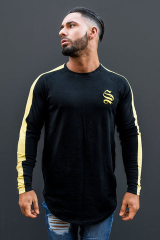 Sinners Long Sleeve Core Tee - Black/Yellow