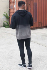 Sixth June Dip Dye Hoodie - Black/Grey - 3