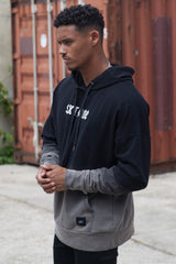 Sixth June Dip Dye Hoodie - Black/Grey -1