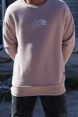 Sixth June Oversized Sweatshirt - Pink - 1