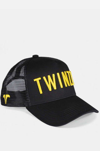 Twinzz 3D Mesh Trucker Cap -  Black/Yellow