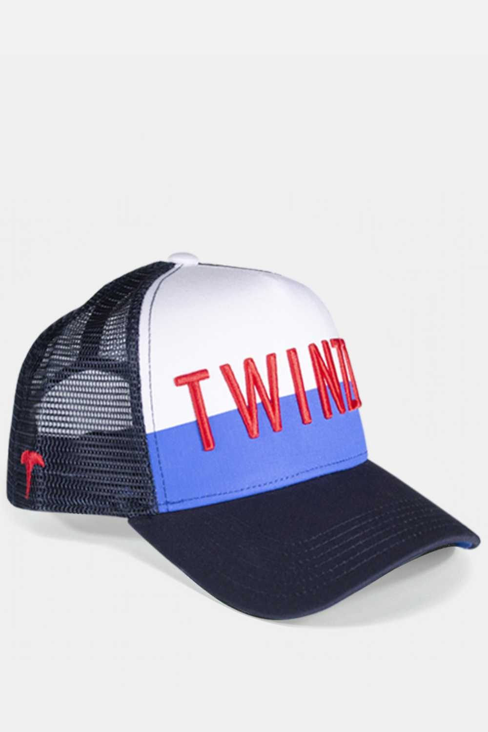 Twinzz 3D Mesh Trucker Cap -  Navy/White/Red