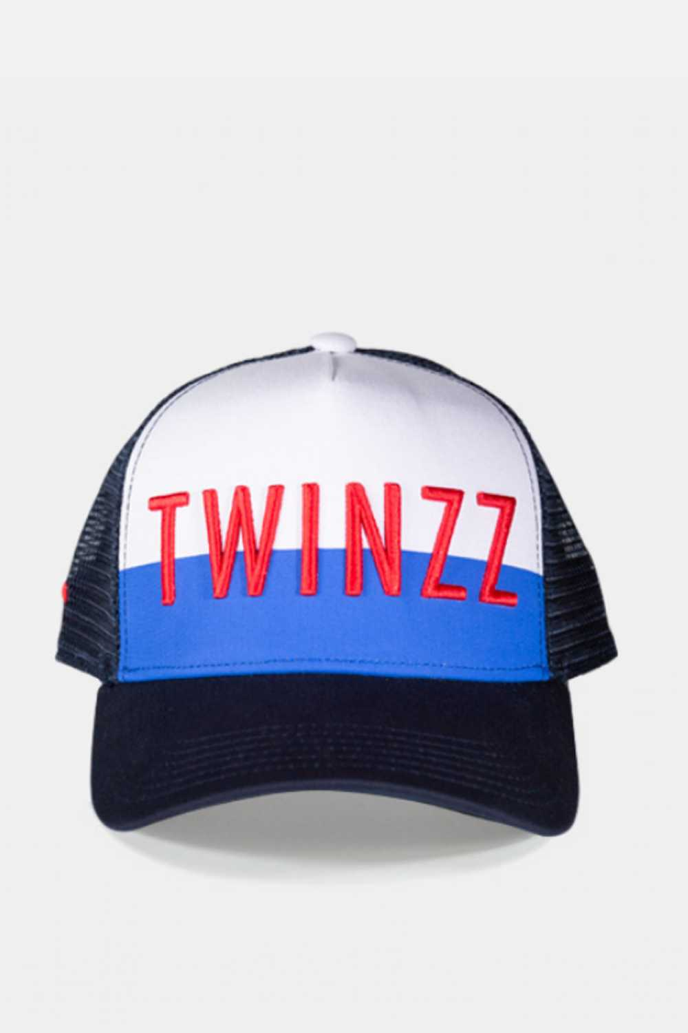 Twinzz 3D Mesh Trucker Cap -  Navy/White/Red - 1
