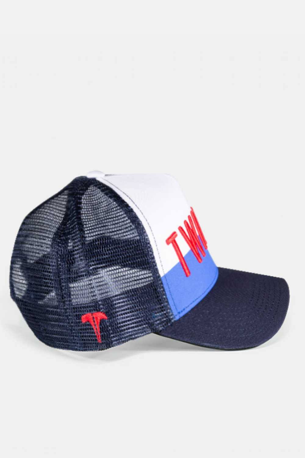 Twinzz 3D Mesh Trucker Cap -  Navy/White/Red - 2