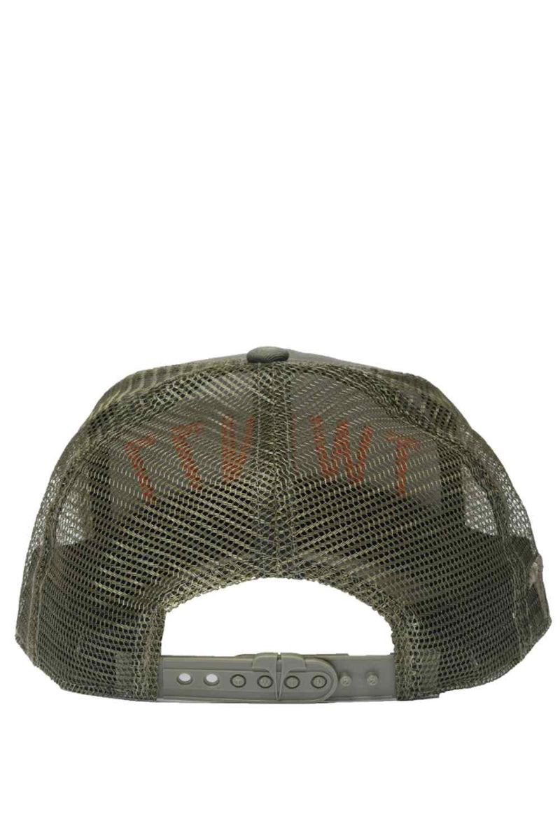 Twinzz 3D Mesh Trucker Cap - Olive/Orange - 2