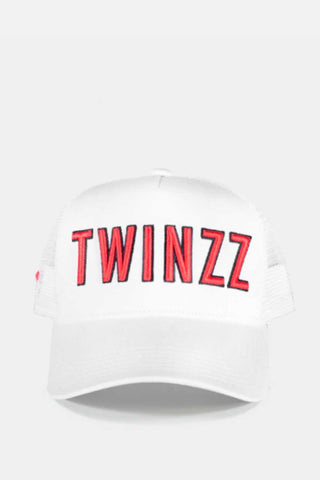 Twinzz 3D Mesh Trucker Cap -  White/Red - 1