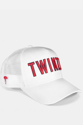 Twinzz 3D Mesh Trucker Cap -  White/Red