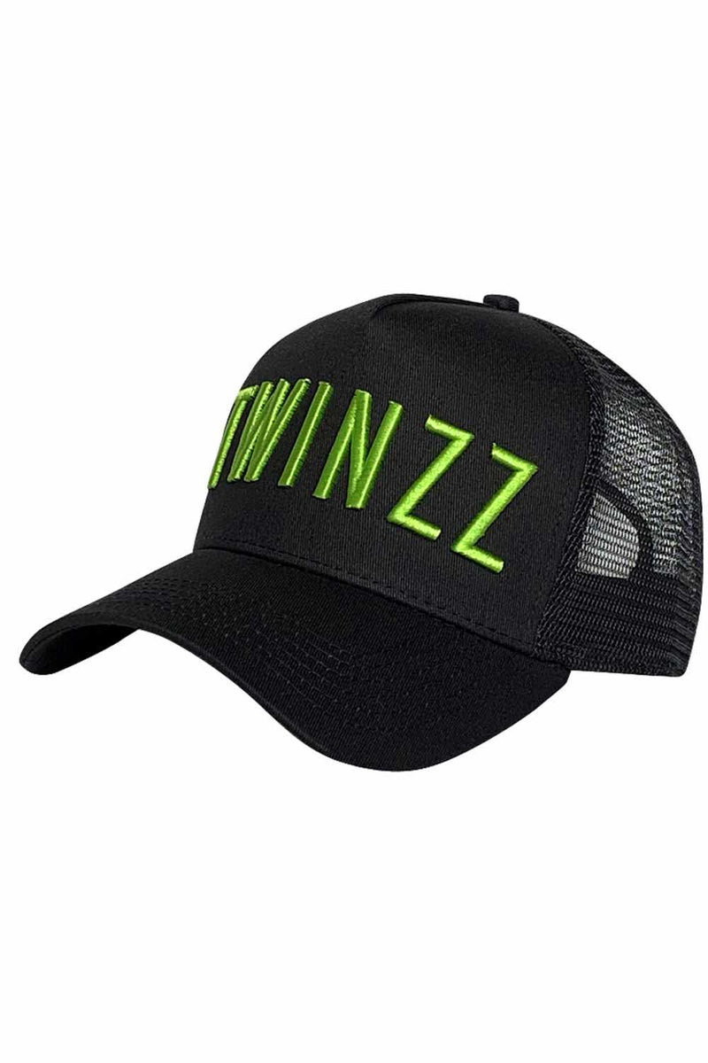 Twinzz Core Mesh Trucker - Black/Neon Lime - 1