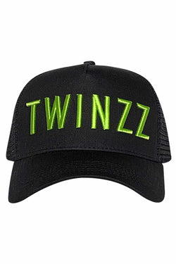 Twinzz Core Mesh Trucker - Black/Neon Lime