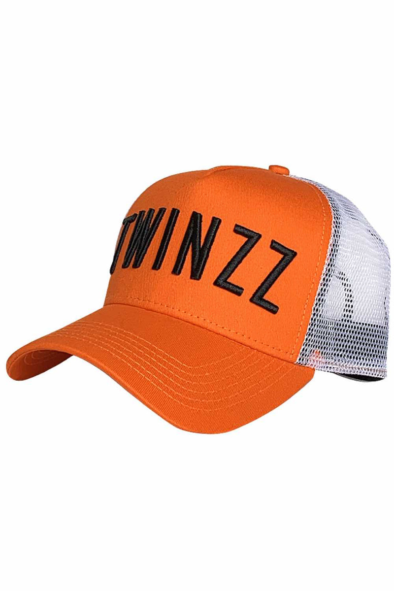 Twinzz Core Mesh Trucker Cap - Orange/White/Black - 1