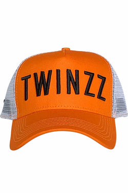 Twinzz Core Mesh Trucker Cap - Orange/White/Black