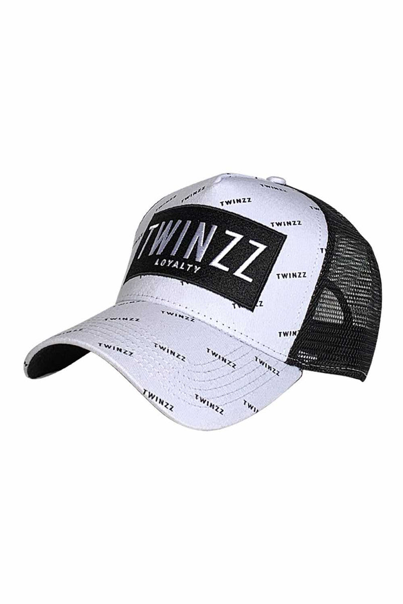 Twinzz Pinelli Repeat Mesh Trucker Cap - White/Black - 1