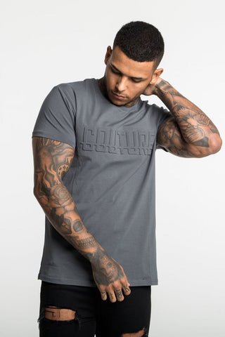 Fresh Couture Monaco T-Shirt - Steel Grey
