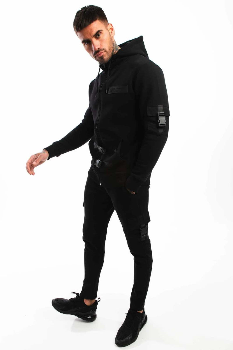Fresh Couture Belvoir Utility Tracksuit Pants - Black - 3