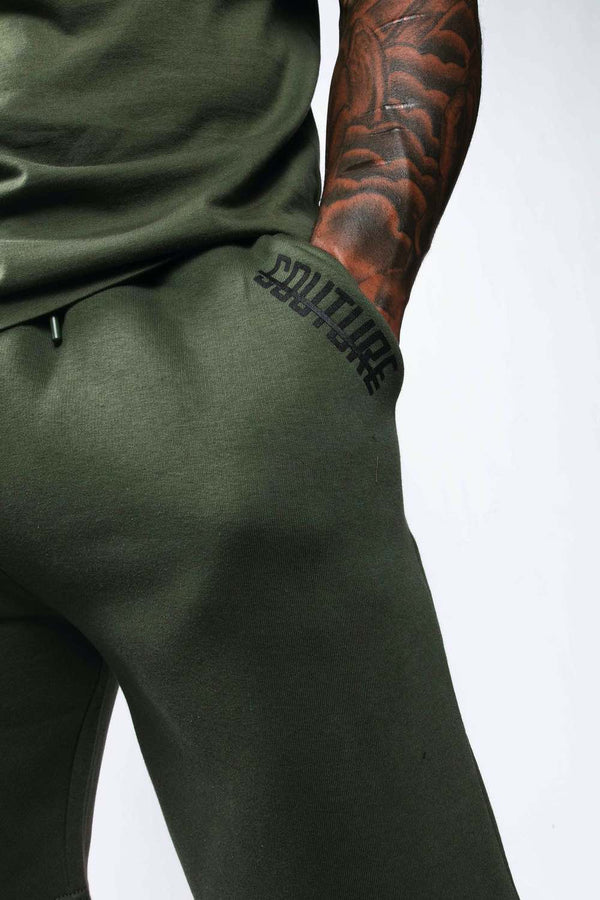 Fresh Couture Mini Strike OG Shorts - Khaki - 1