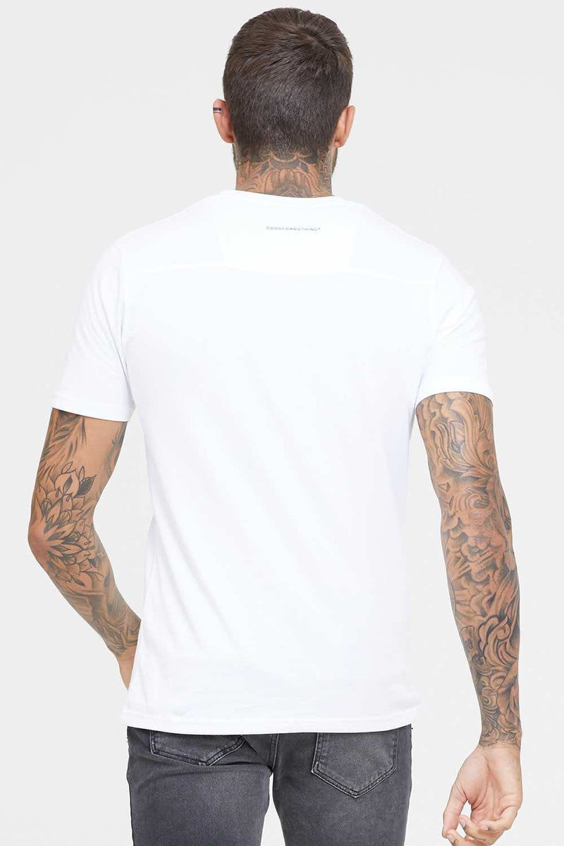 Good For Nothing Butterfly Logo T-Shirt -White - 3