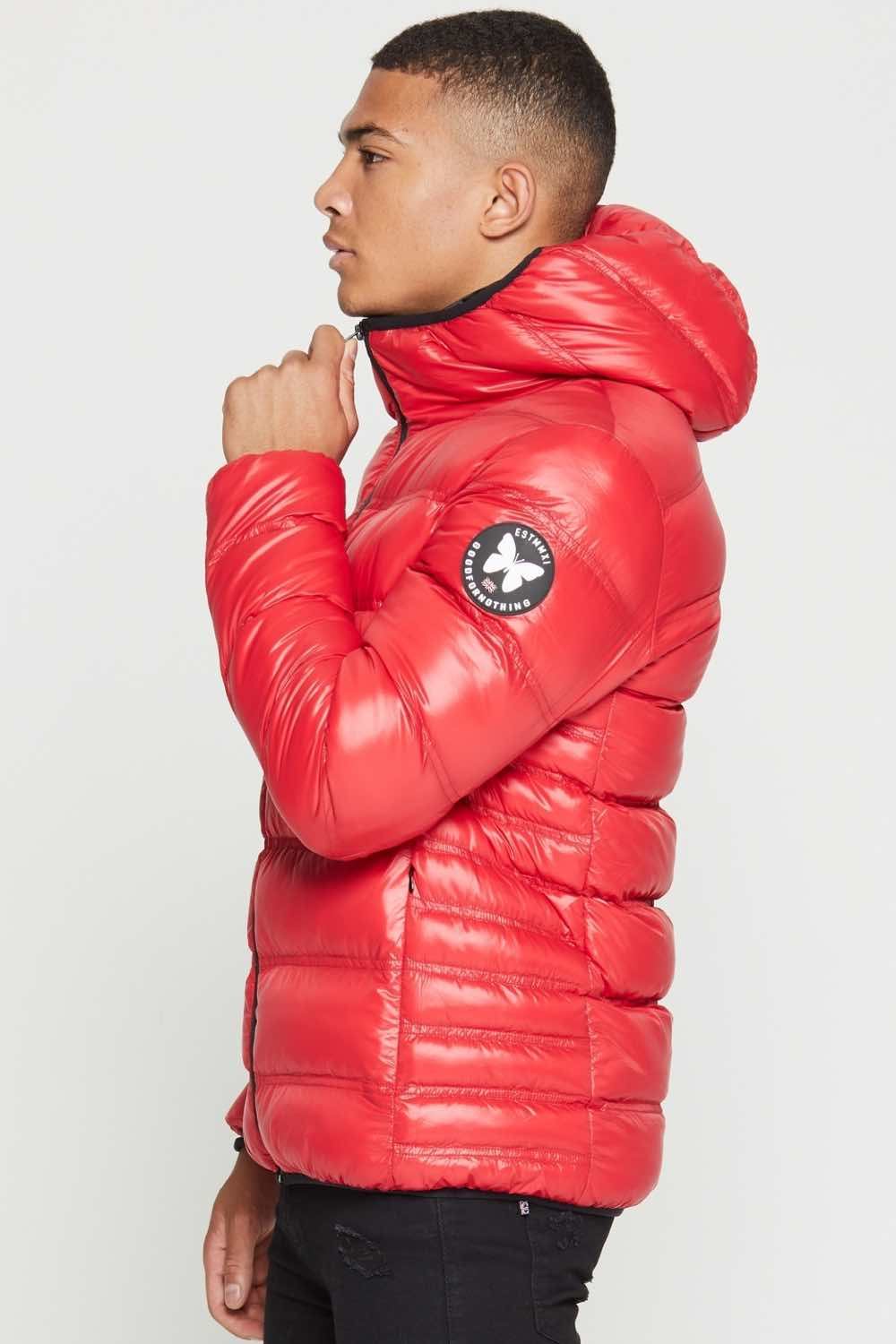 Good For Nothing Climate Puffer Jacket - Red - 2