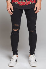 Good For Nothing Destroyed Jeans - Black - 2