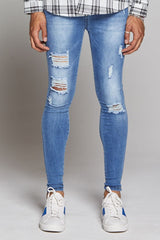 Good For Nothing Destroyed Jeans - Washed Blue - 2